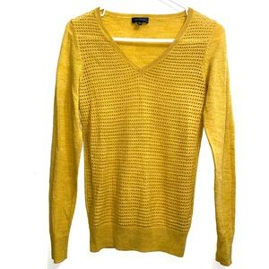 The Limited mustard yellow v-neck sweater 283B9